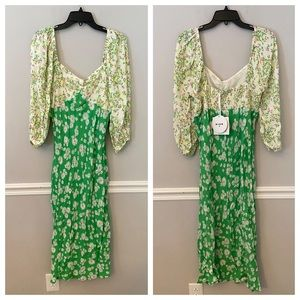 NWT rixo for Target green floral print dress 14